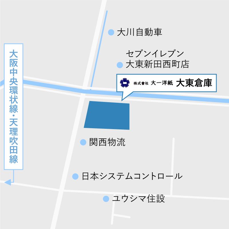 大東倉庫地図
